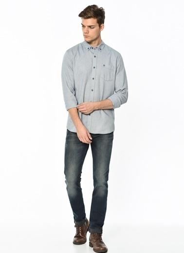 Cebi Düğmeli Gömlek-Mavi